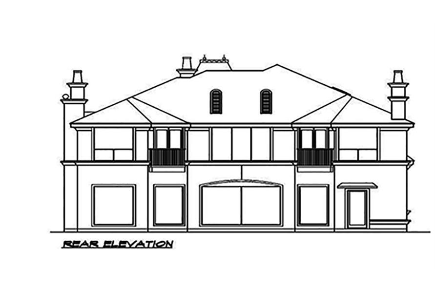 195-1089: Home Plan Rear Elevation
