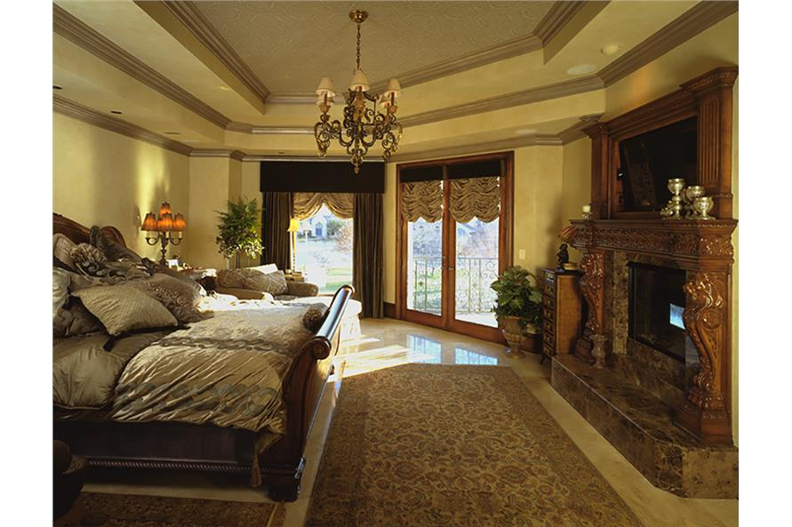 Master Bedroom of this 3-Bedroom,5343 Sq Ft Plan -5343