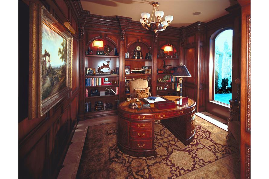 Home Office: Library of this 3-Bedroom,5343 Sq Ft Plan -5343