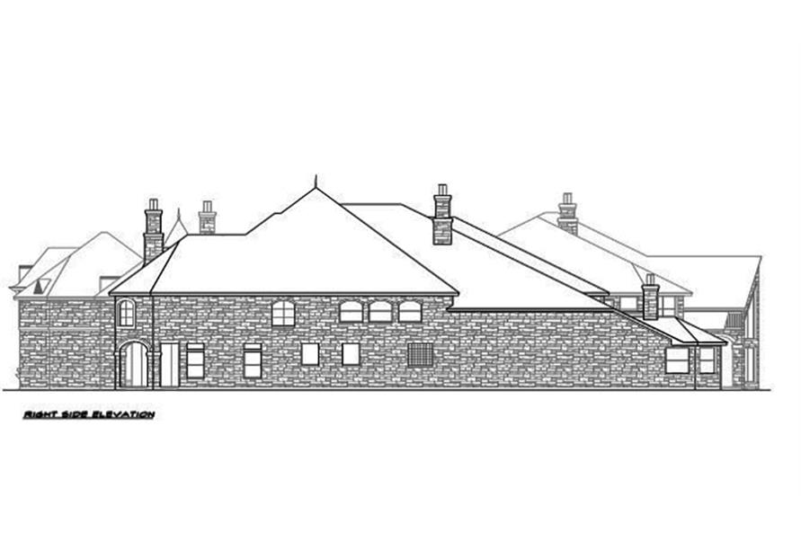 Home Plan Right Elevation of this 5-Bedroom,12268 Sq Ft Plan -195-1094