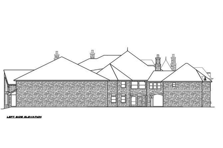 195-1094: Home Plan Left Elevation