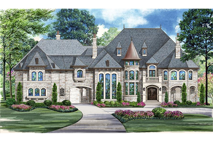 5-Bedroom, 12268 Sq Ft Mediterranean Home Plan - 195-1094 - Main Exterior
