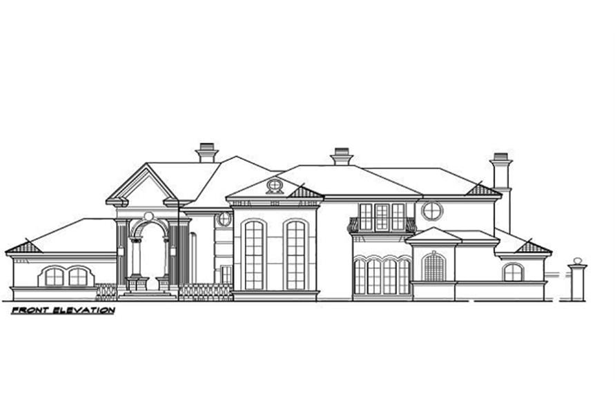 Home Plan Front Elevation of this 4-Bedroom,7199 Sq Ft Plan -195-1095