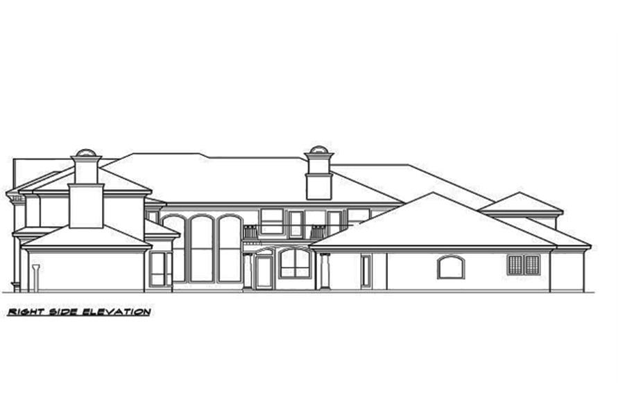 Home Plan Right Elevation of this 4-Bedroom,7199 Sq Ft Plan -195-1095