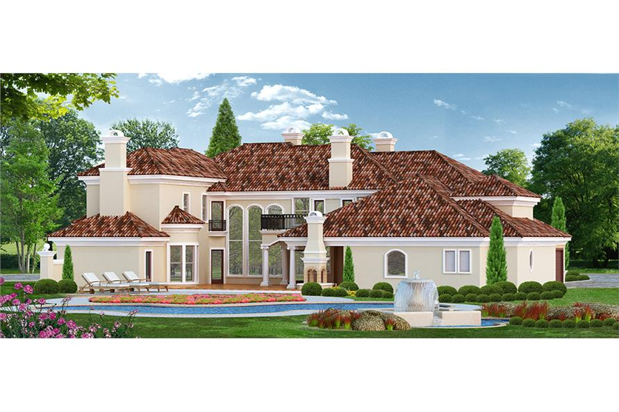 Home Exterior Photograph of this 4-Bedroom,7199 Sq Ft Plan -195-1095