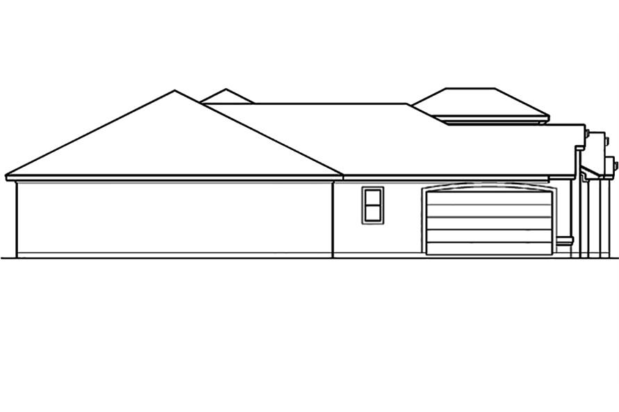 Home Plan Left Elevation of this 4-Bedroom,3242 Sq Ft Plan -195-1098