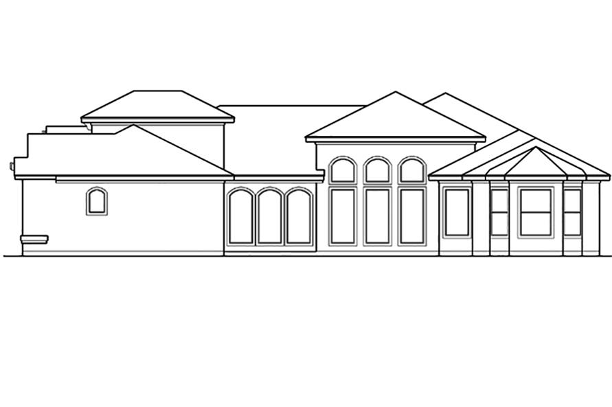 Home Plan Right Elevation of this 4-Bedroom,3242 Sq Ft Plan -195-1098