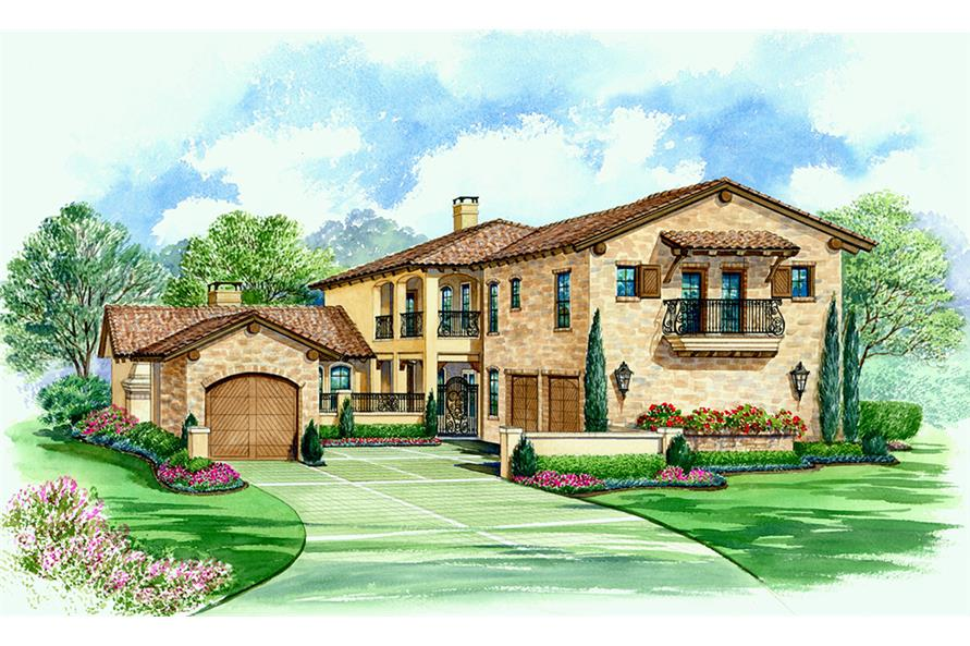 4-Bedroom, 3671 Sq Ft Georgian House Plan - 195-1099 - Front Exterior