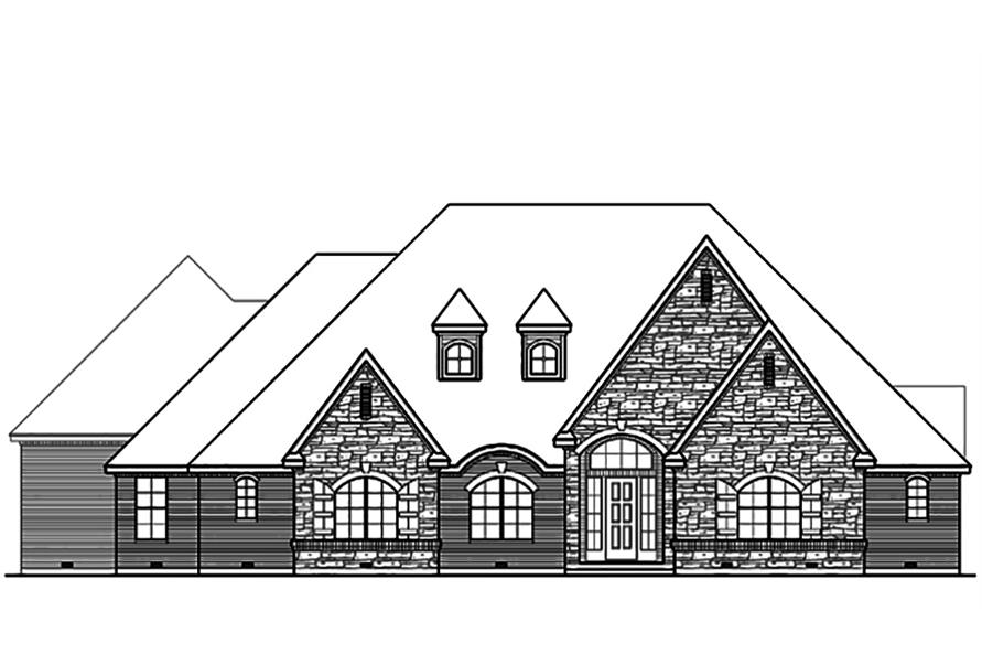 Home Plan Front Elevation of this 3-Bedroom,4461 Sq Ft Plan -195-1103