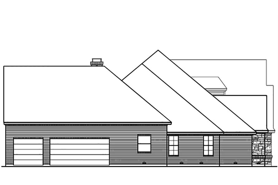 Home Plan Left Elevation of this 3-Bedroom,4461 Sq Ft Plan -195-1103
