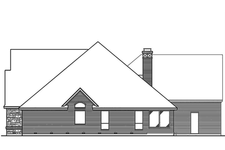 Home Plan Right Elevation of this 3-Bedroom,4461 Sq Ft Plan -195-1103