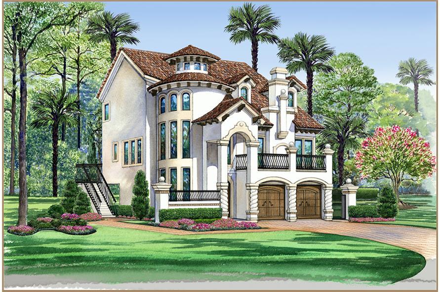 3-Bedroom, 3596 Sq Ft Georgian House Plan - 195-1107 - Front Exterior