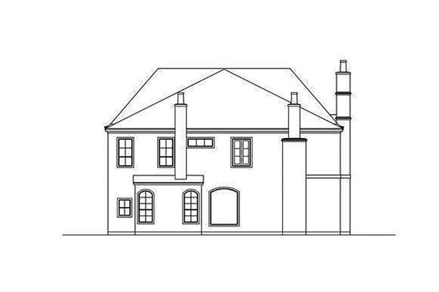 Home Plan Rear Elevation of this 3-Bedroom,5799 Sq Ft Plan -195-1113