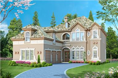 3-Bedroom, 3953 Sq Ft Georgian Home Plan - 195-1114 - Main Exterior