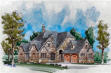 3-Bedroom, 3546 Sq Ft Craftsman Home Plan - 195-1115 - Main Exterior