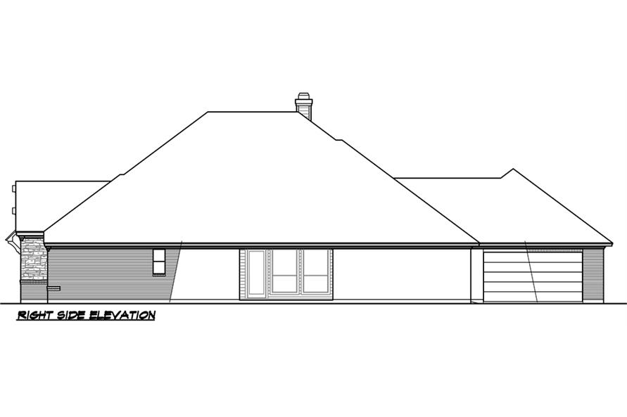 Home Plan Right Elevation of this 5-Bedroom,3093 Sq Ft Plan -195-1118