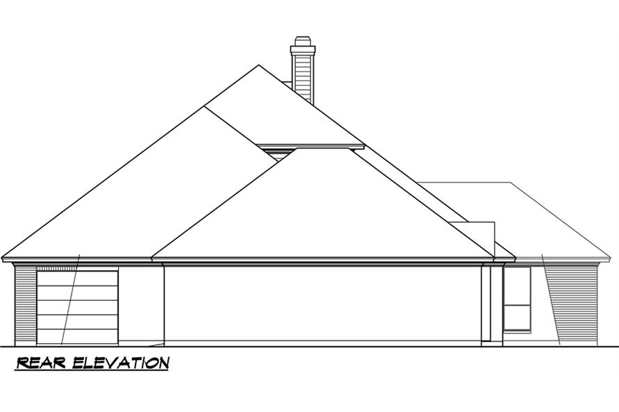 Home Plan Rear Elevation of this 5-Bedroom,3093 Sq Ft Plan -195-1118
