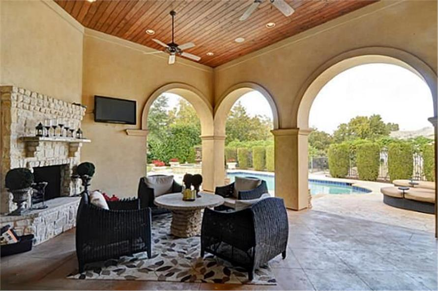 Patio of this 4-Bedroom,8647 Sq Ft Plan -8647