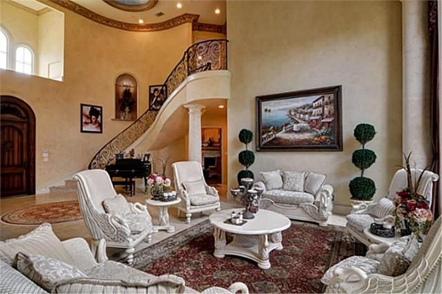Living Room of this 4-Bedroom,8647 Sq Ft Plan -8647