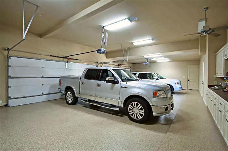 Garage of this 4-Bedroom,8647 Sq Ft Plan -8647