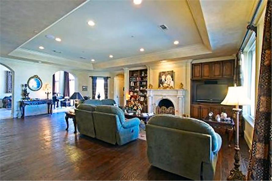 Family Room of this 4-Bedroom,8647 Sq Ft Plan -8647
