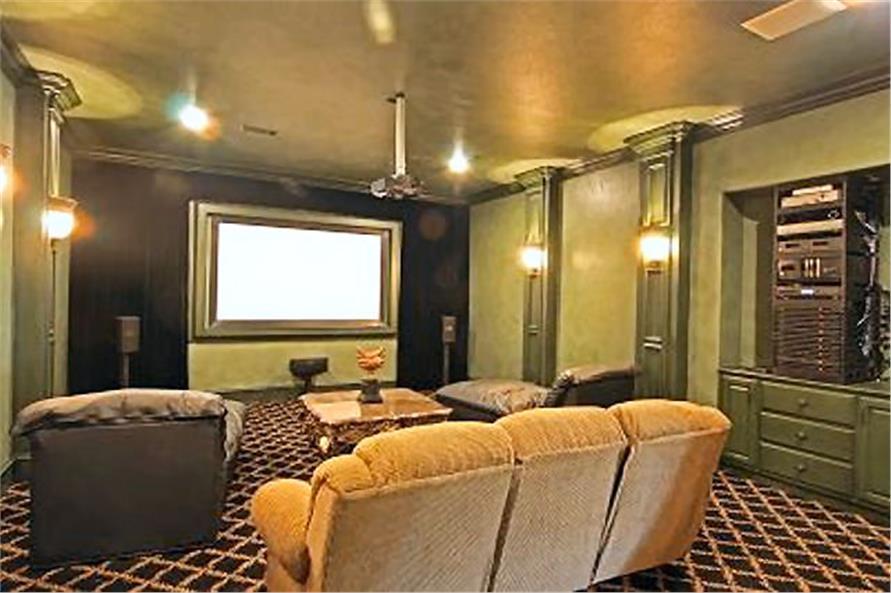 Media Room of this 4-Bedroom,8647 Sq Ft Plan -8647