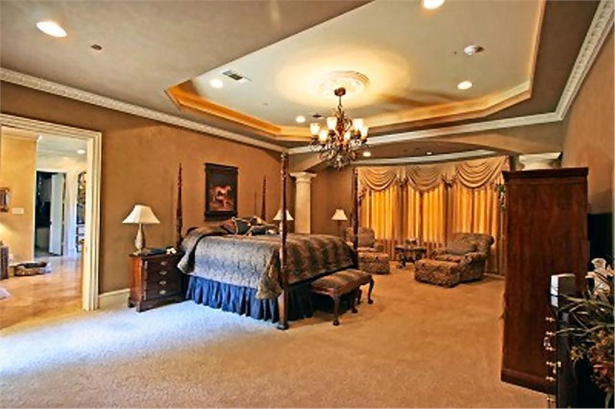 Master Bedroom of this 4-Bedroom,8647 Sq Ft Plan -8647