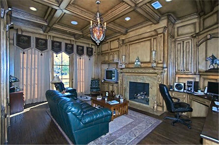 Home Office: Library of this 4-Bedroom,8647 Sq Ft Plan -8647
