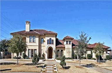 4-Bedroom, 8647 Sq Ft Mediterranean Home Plan - 195-1126 - Main Exterior