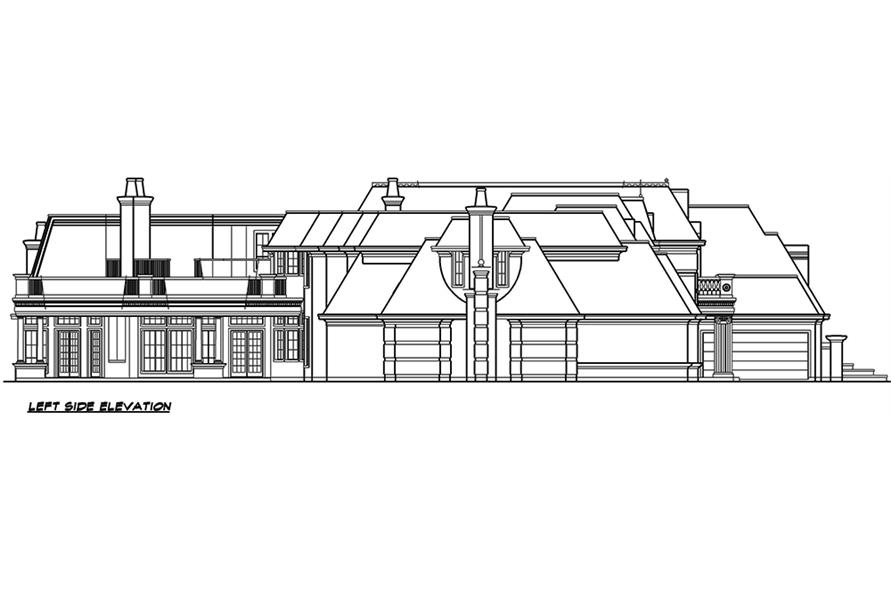 195-1127: Home Plan Left Elevation