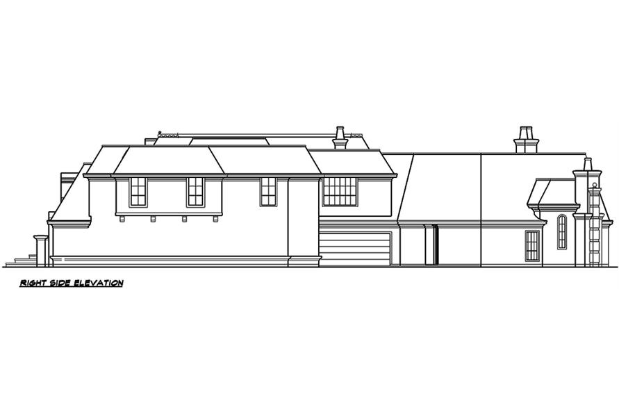195-1127: Home Plan Right Elevation
