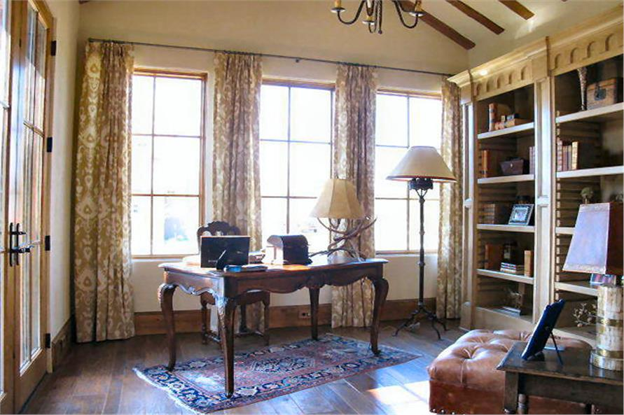Home Office: Library of this 4-Bedroom,3858 Sq Ft Plan -3858