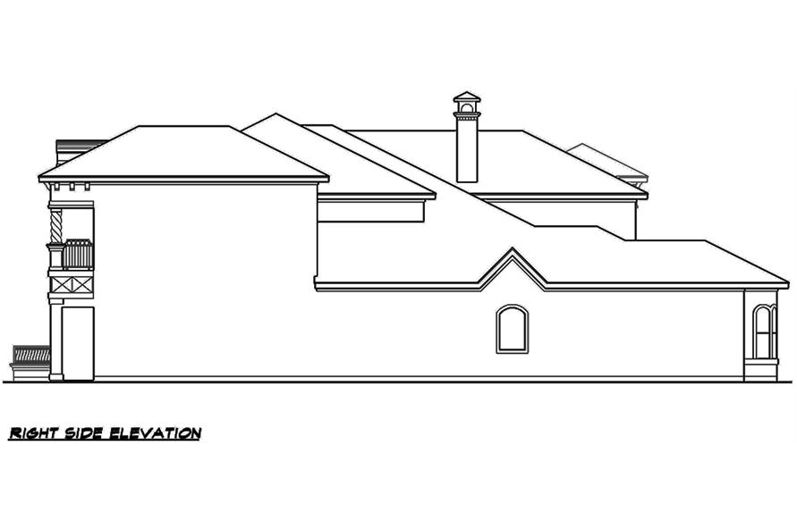 Home Plan Right Elevation of this 4-Bedroom,3995 Sq Ft Plan -195-1138