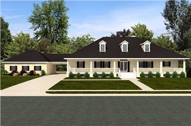3-Bedroom, 3045 Sq Ft Craftsman Home Plan - 195-1139 - Main Exterior