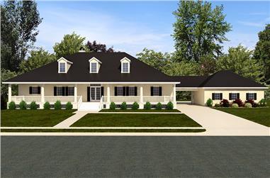 3-Bedroom, 3192 Sq Ft Craftsman House Plan - 195-1140 - Front Exterior