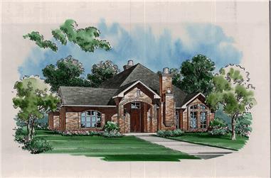 3-Bedroom, 2649 Sq Ft Tudor House Plan - 195-1145 - Front Exterior