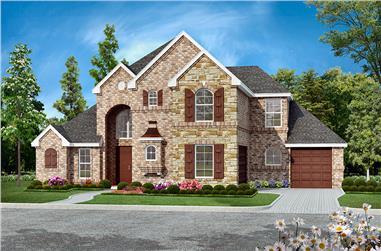 4-Bedroom, 3035 Sq Ft Tudor Home Plan - 195-1148 - Main Exterior
