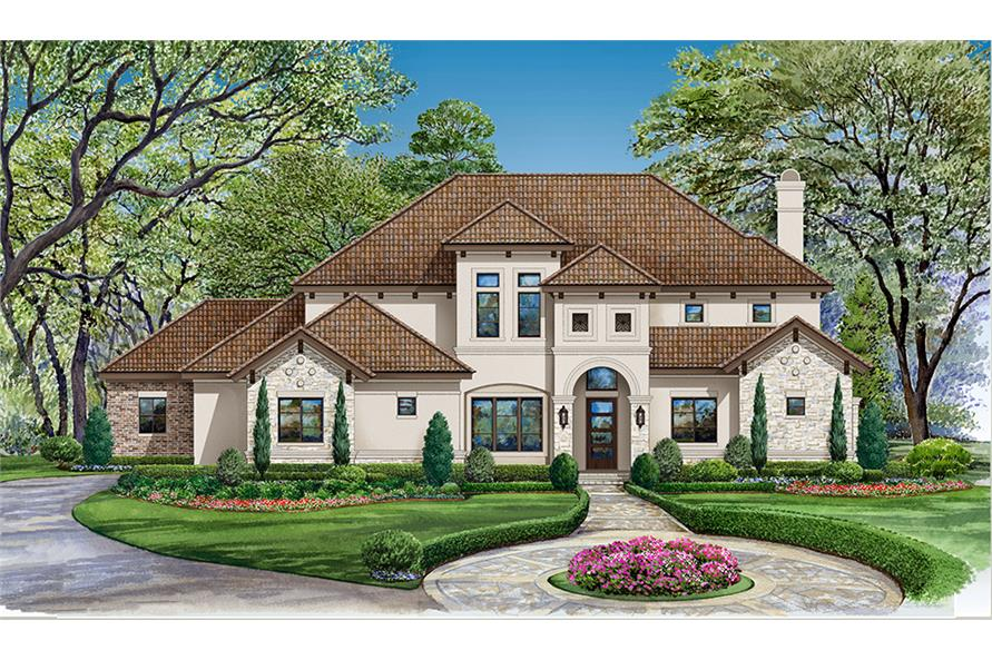 4 bedrm 3560 sq ft mediterranean house plan 195 1147 for 3000 sq ft mediterranean house plans