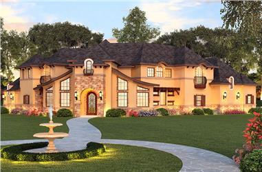 4-Bedroom, 3767 Sq Ft Luxury Home Plan - 195-1150 - Main Exterior