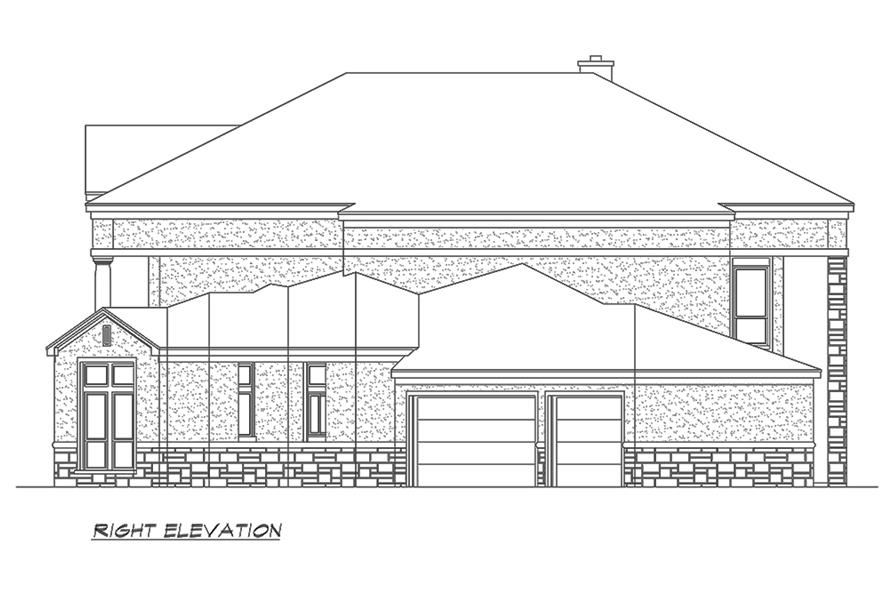 195-1152: Home Plan Right Elevation