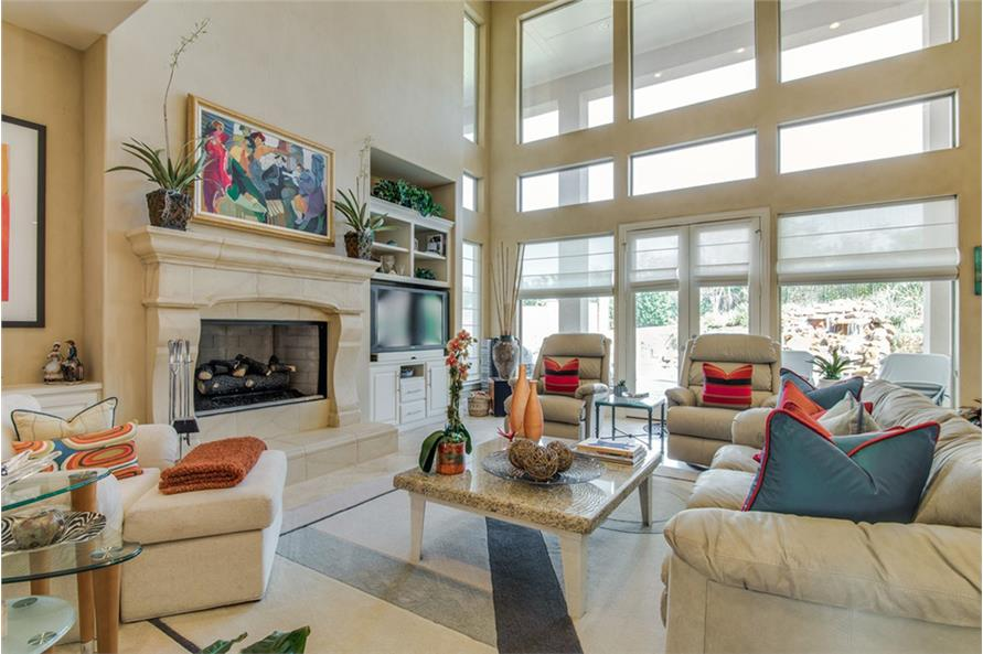 Family Room of this 4-Bedroom,4873 Sq Ft Plan -4873