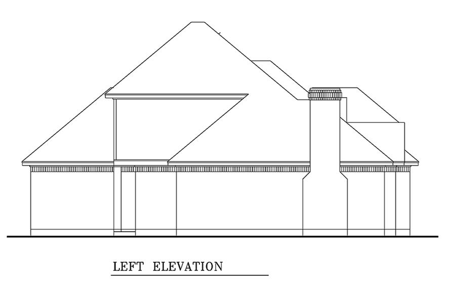 Home Plan Left Elevation of this 3-Bedroom,1861 Sq Ft Plan -195-1154