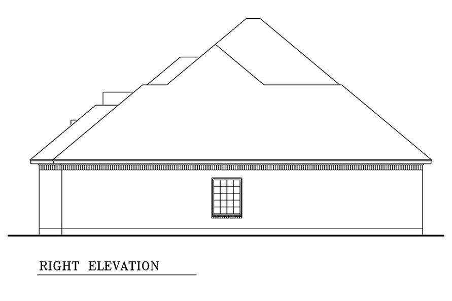 Home Plan Right Elevation of this 3-Bedroom,1861 Sq Ft Plan -195-1154