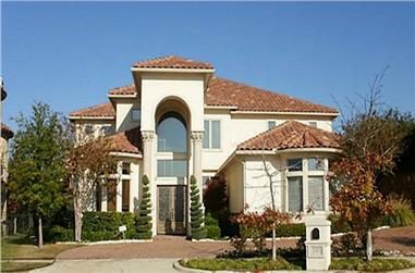 5-Bedroom, 7575 Sq Ft Mediterranean Home Plan - 195-1159 - Main Exterior