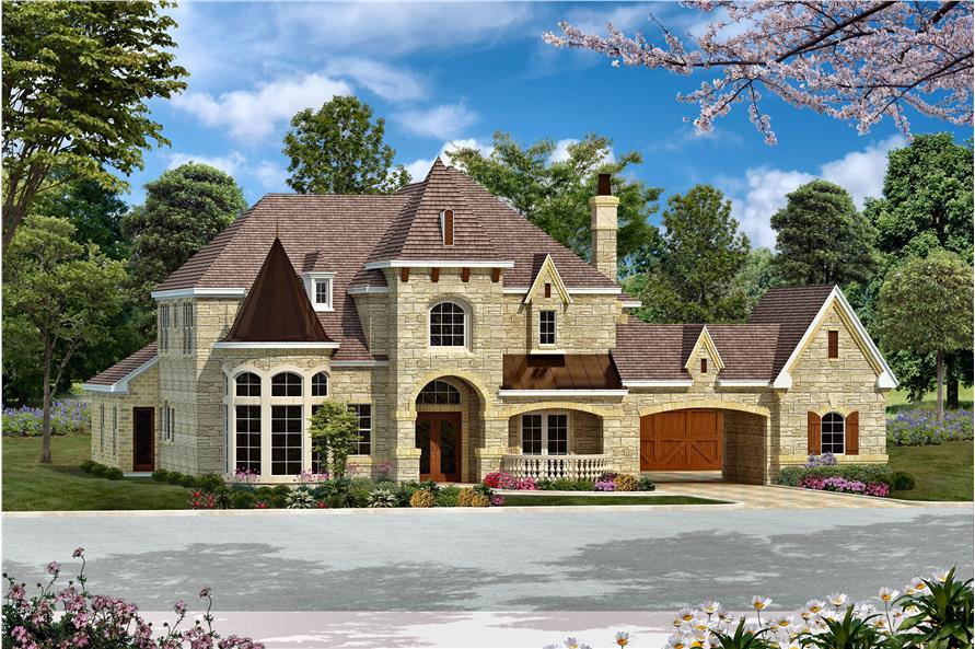 Home Plan Rendering of this 5-Bedroom,6065 Sq Ft Plan -6065