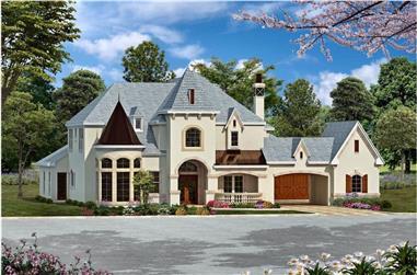5-Bedroom, 6065 Sq Ft Luxury Home - Plan #195-1161 - Main Exterior