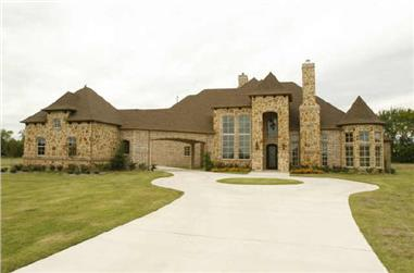 5-Bedroom, 6550 Sq Ft Mediterranean House Plan - 195-1163 - Front Exterior