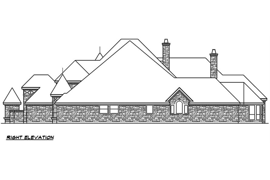 Home Plan Right Elevation of this 5-Bedroom,7823 Sq Ft Plan -195-1169