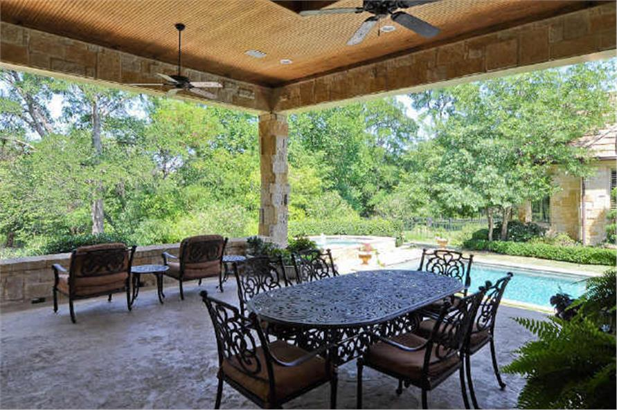 Patio of this 5-Bedroom,7823 Sq Ft Plan -7823