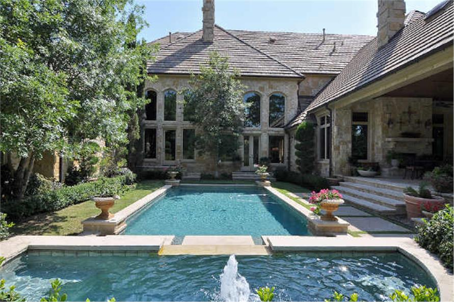 Pool of this 5-Bedroom,7823 Sq Ft Plan -7823